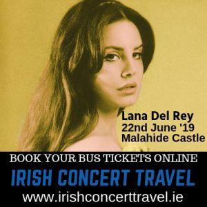 Bus to Lana Del Rey in Malahide Castle
