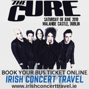 Bus to The Cure in Malahide Castle
