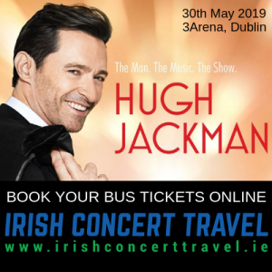 Bus to Hugh Jackman in the 3Arena