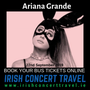 Bus to Ariana Grande in the 3Arena 22nd September 2019