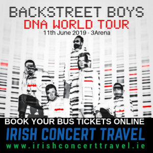 Bus to Backstreet Boys 3Arena 11th June 2019