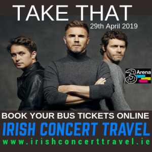 Bus to Take That - 3ARena 29th April 2019