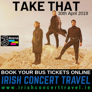 Bus to Take That in the 3Arena 30th April 2019