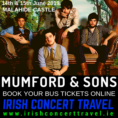 Bus to Mumford & Sons Malahide Castle 15th June 2019
