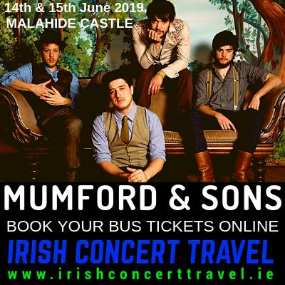 Bus to Mumford & Sons Malahide Castle 14th June 2019
