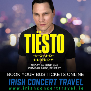 Bus to Tiesto at Belsonic 28th June 2019
