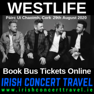 Bus to Westlife Cork 29th August 2020