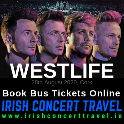 Bus to Westlife in Cork 28th August 2020