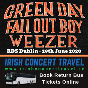 Bus to Greenday, Fall Out Boy and Weezer in the RDS 29th June 2020