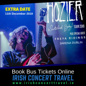 Bus to Hozier in the 3Arena 11th December 2019