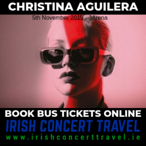 Bus to Christina Aguilera 5th November 3Arena