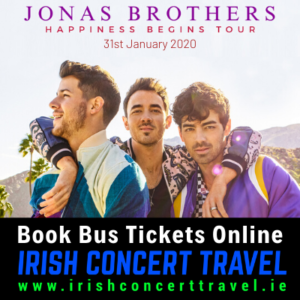 Buses to Jonas Brothers on the 31st January 2020 in the 3Arena