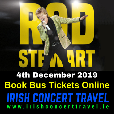 Buses to Rod Stewart on the 4th December 2019 in the 3Arena
