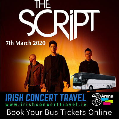 Buses to The Script in the 3Arena on the 7th March 2020