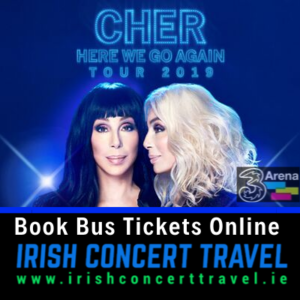 Buses to Cher 3Arena Dublin 1st November 2019