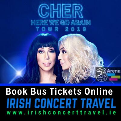 Buses to Cher 3Arena Dublin 1st November 2019
