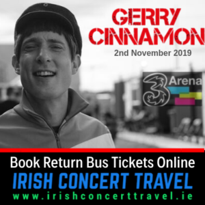 Buses to Gerry Cinnamon 2nd November 3Arena