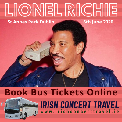 Buses to Lionel Richie in St Annes Park Dublin on the 6th June 2020