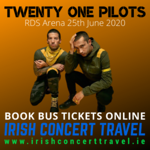 Buses to The Twenty One Pilots in the RDS Arena on the 25th June 2020