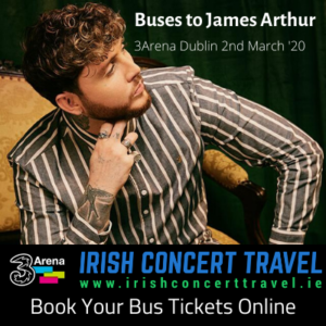 Buses to James Arthur 2nd March 2020 in the 3Arena