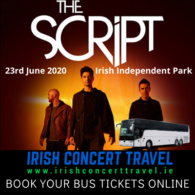 Buses to The Script in the Irish Independent Park Cork on the 23rd June 2020