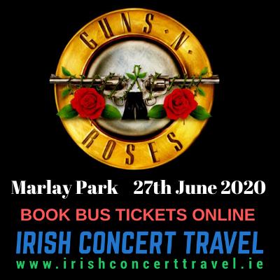 Buses Guns N Roses in Marlay Park 27th of June 2020