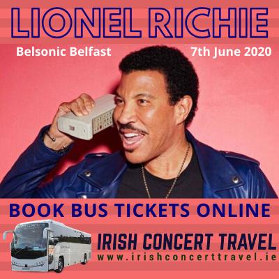 Bus to Lionel Richie - Belsonic Ormeau Park Belfast 7th June 2020