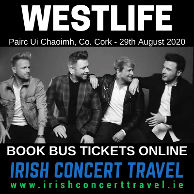Bus to Westlife at Pairc Ui Chaoimh, Co Cork on the 29th August 2020