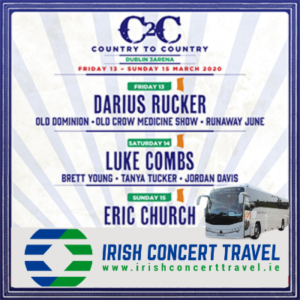 Bus to Country to Country in the 3arena 14th March 2020