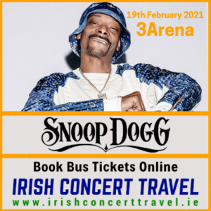 Buses to Snoop Dogg on the 19th February 2021 in the 3Arena
