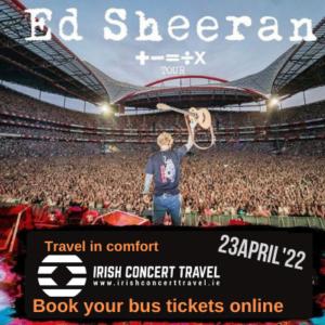 Bus to Ed Sheeran 23rd April 2022