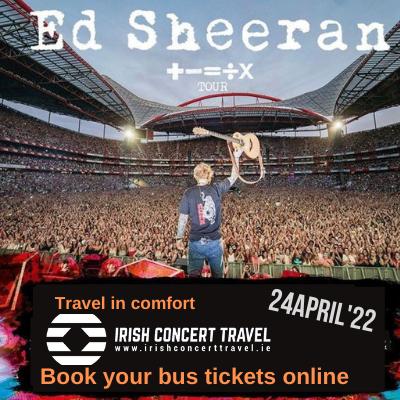 Bus to Ed Sheeran 24th April 2022